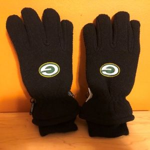 Green Bay Packers WATER PROOF Youth Size Gloves 8-
